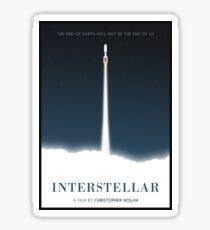 Interstellar film poster Sticker