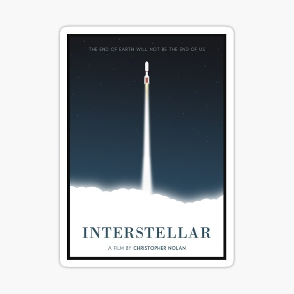 Affiche du film interstellaire Sticker