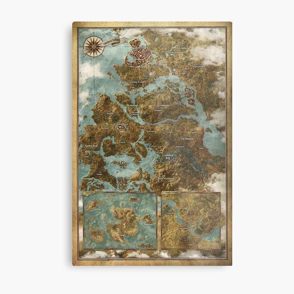 The Witcher 3: Wild Hunt Map Metal Print
