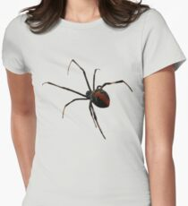 Red Back on Front Women's Fitted T-Shirt