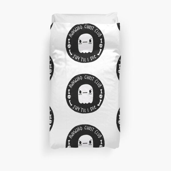 Awkward Ghost Club Black Duvet Cover