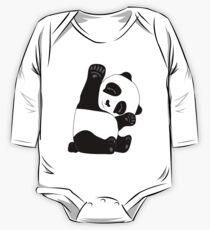 Waving Panda One Piece - Long Sleeve