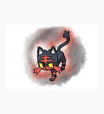 Litten - pokemon sun and moon starter Photographic Print