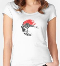 Pokeball Death Star Women's Fitted Scoop T-Shirt