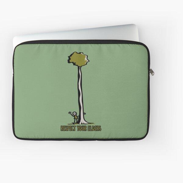 Respect Your Elders Man Hugging Tree Laptop Sleeve
