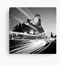 Edinburgh, Scotland, Long exposure Black and White Photo Canvas Print