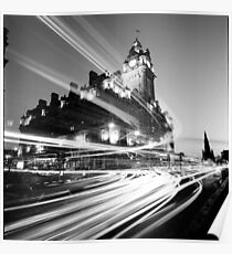 Edinburgh, Scotland, Long exposure Black and White Photo Poster