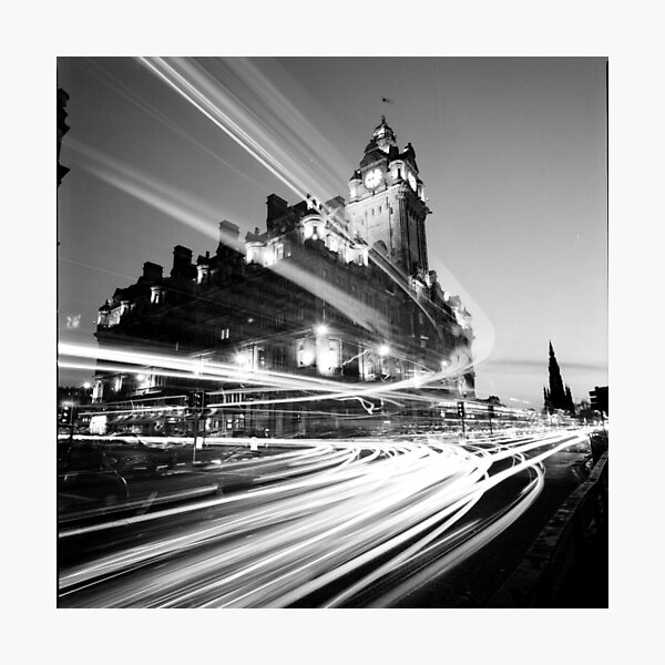 Edinburgh, Scotland, Long exposure Black and White Photo Photographic Print