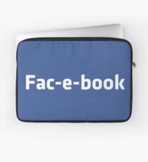 fac-e-book Laptop Sleeve