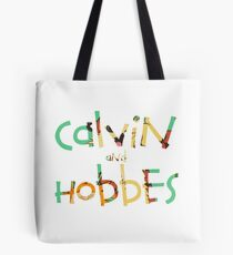 calvin and hobbes font Tote Bag
