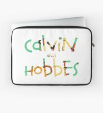calvin and hobbes font Laptop Sleeve