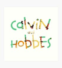 calvin and hobbes font Art Print