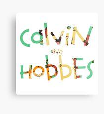 calvin and hobbes font Metal Print