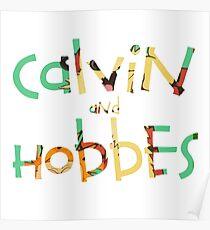 Calvin und Hobbes Schriftart Poster