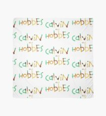 calvin and hobbes font Scarf