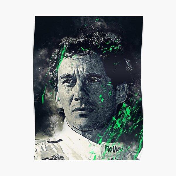 Ayrton Senna Peinture R.I.P Poster