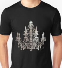 Crystal Chandelier, Faux Silver T-Shirt