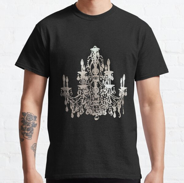 Crystal Chandelier, Faux Silver Classic T-Shirt