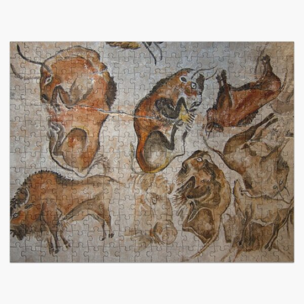 Altamira Bisons. Altamira cave paintings Jigsaw Puzzle