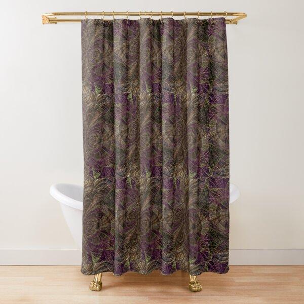 Purple Sun Waves Shower Curtain