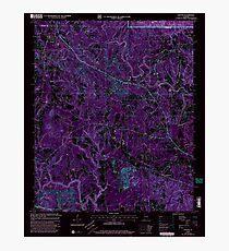 USGS TOPO Map Alabama AL Nauvoo 304652 2000 24000 Inverted Photographic Print