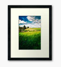 Walk Upon England's Pastures Green Framed Print