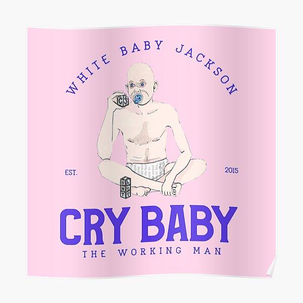 White Baby Jackson Poster