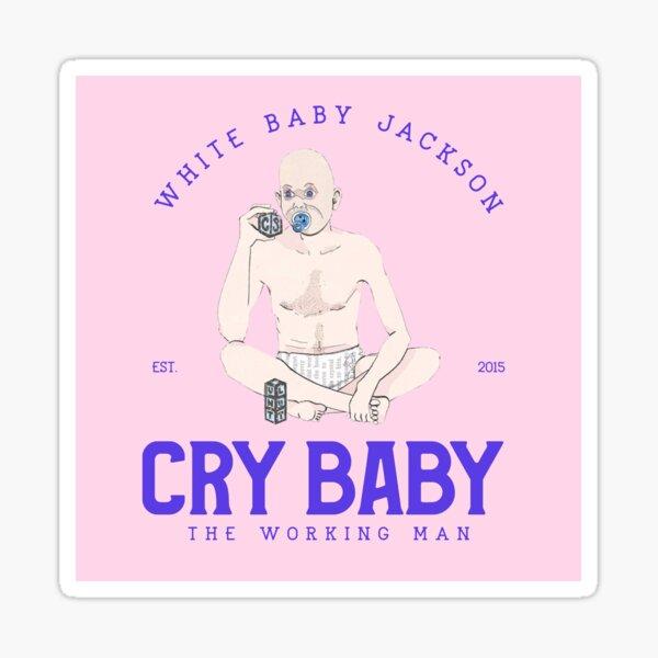 White Baby Jackson Sticker