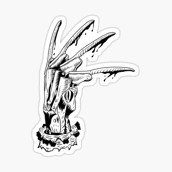 Krueger Glove Sticker