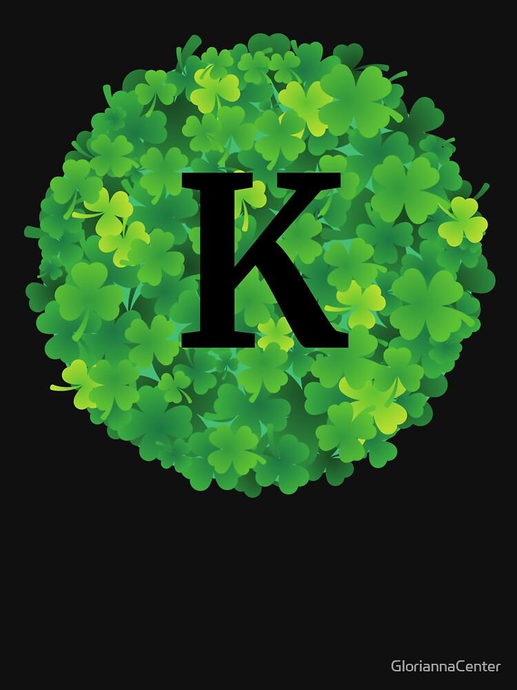 K initial on shamrocks by GloriannaCenter