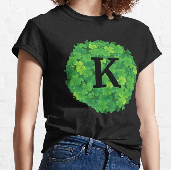 K initial on shamrocks Classic T-Shirt