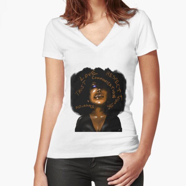 Love & Trust Fitted V-Neck T-Shirt