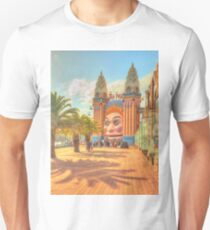 Luna Park with palms Unisex T-Shirt