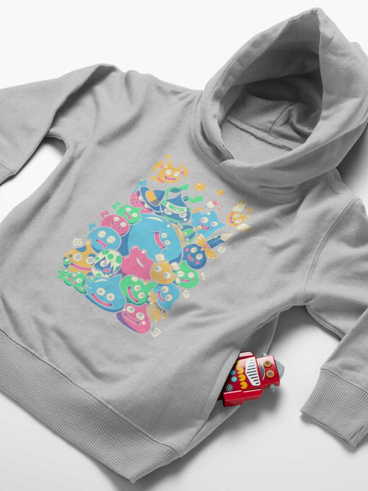 Alternate view of Slime Party!  Toddler Pullover Hoodie