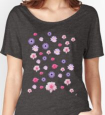 Mixed Roses and Other Flowers Women's Relaxed Fit T-Shirt