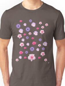 Mixed Roses and Other Flowers Unisex T-Shirt