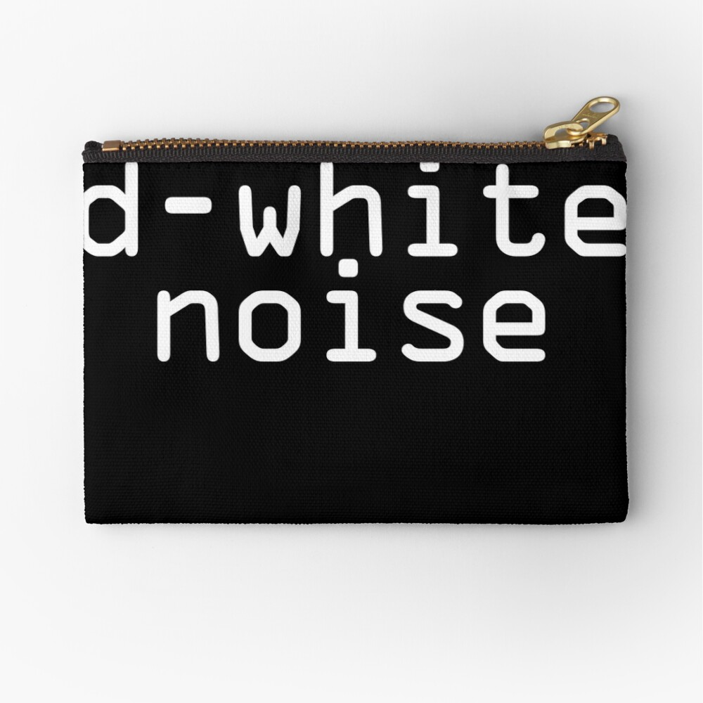 D-White Noise - plain white Zipper Pouch