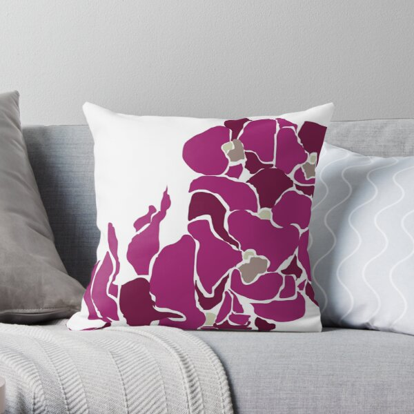 Orchards in Pink Throw Pillow