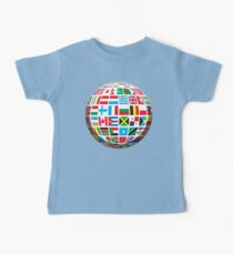 World, Flags of the Globe, Flags, Globe, Peace, Global Kids Clothes