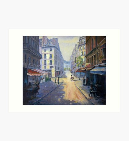 Rue Mazarin, Paris, France Art Print