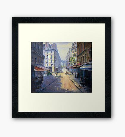 Rue Mazarin, Paris, France Framed Print