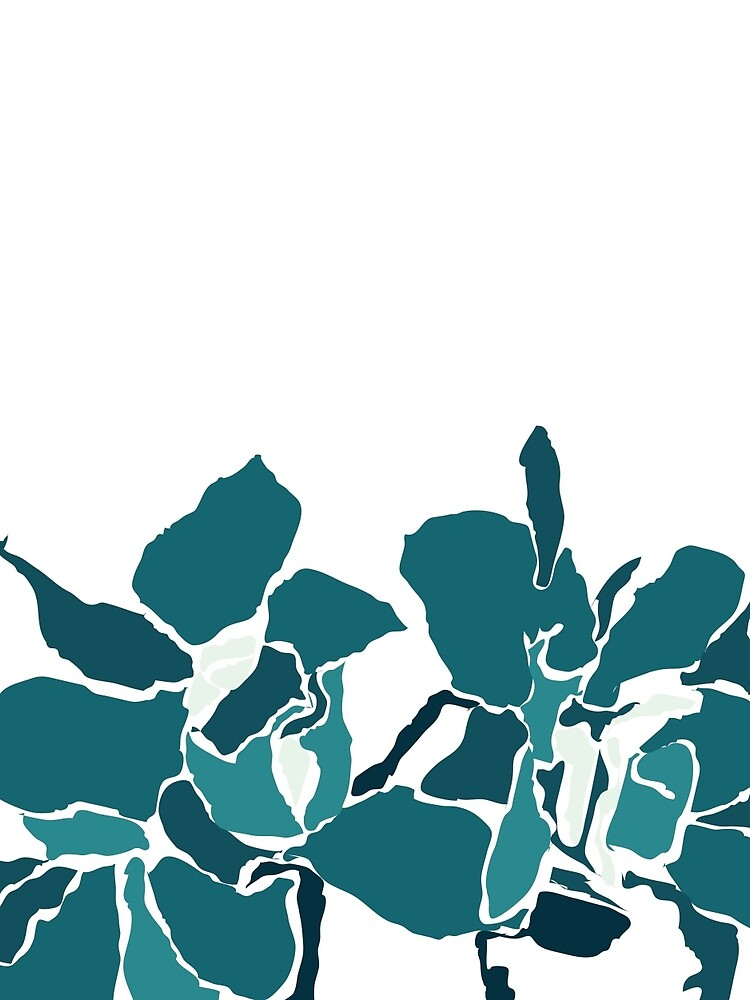 Orchards 2S in Teal  by naomicrain