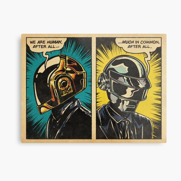 Human After All - Daft Punk Metal Print