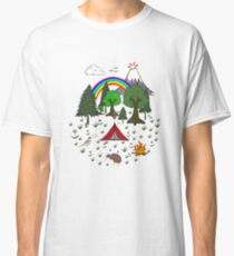 New Zealand Camping Scene with Kiwi Classic T-Shirt