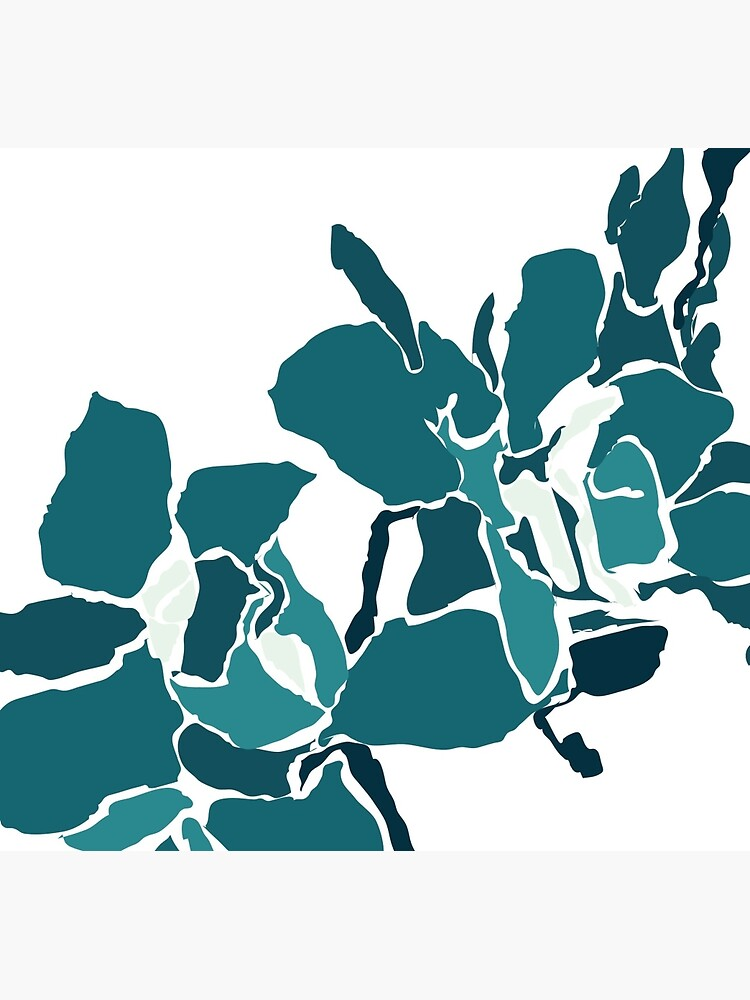 Orchards 2D in Teal by naomicrain