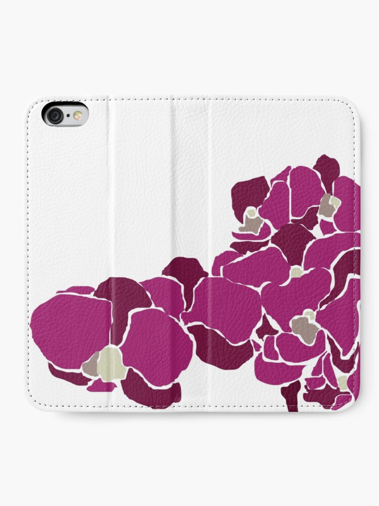 Alternate view of Orchards in Pink B iPhone Wallet