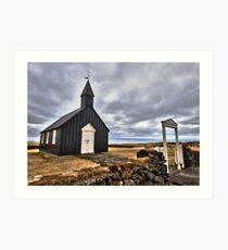 Black Church at Budir Art Print