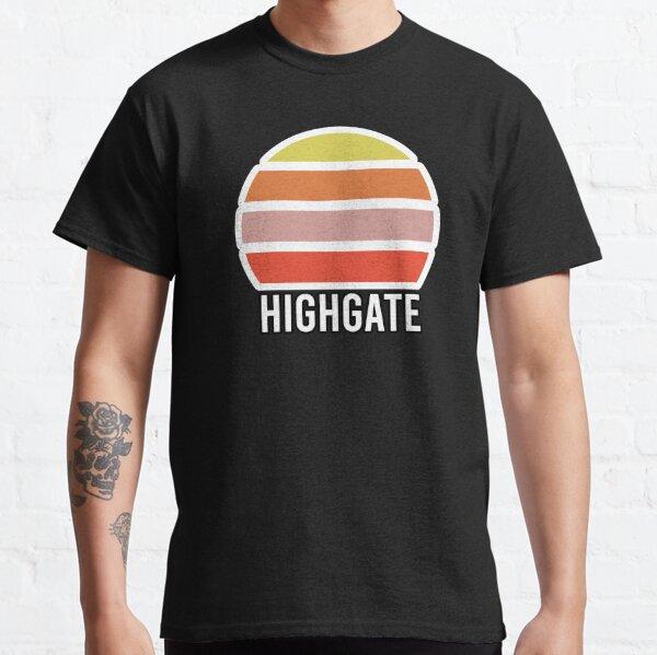 Highgate London Underground Train Station Abstract Vintage Sunset Souvenir Classic T-Shirt