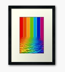 spectrum reflection Framed Print
