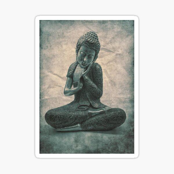 Buddha Blue Lotus Sticker
